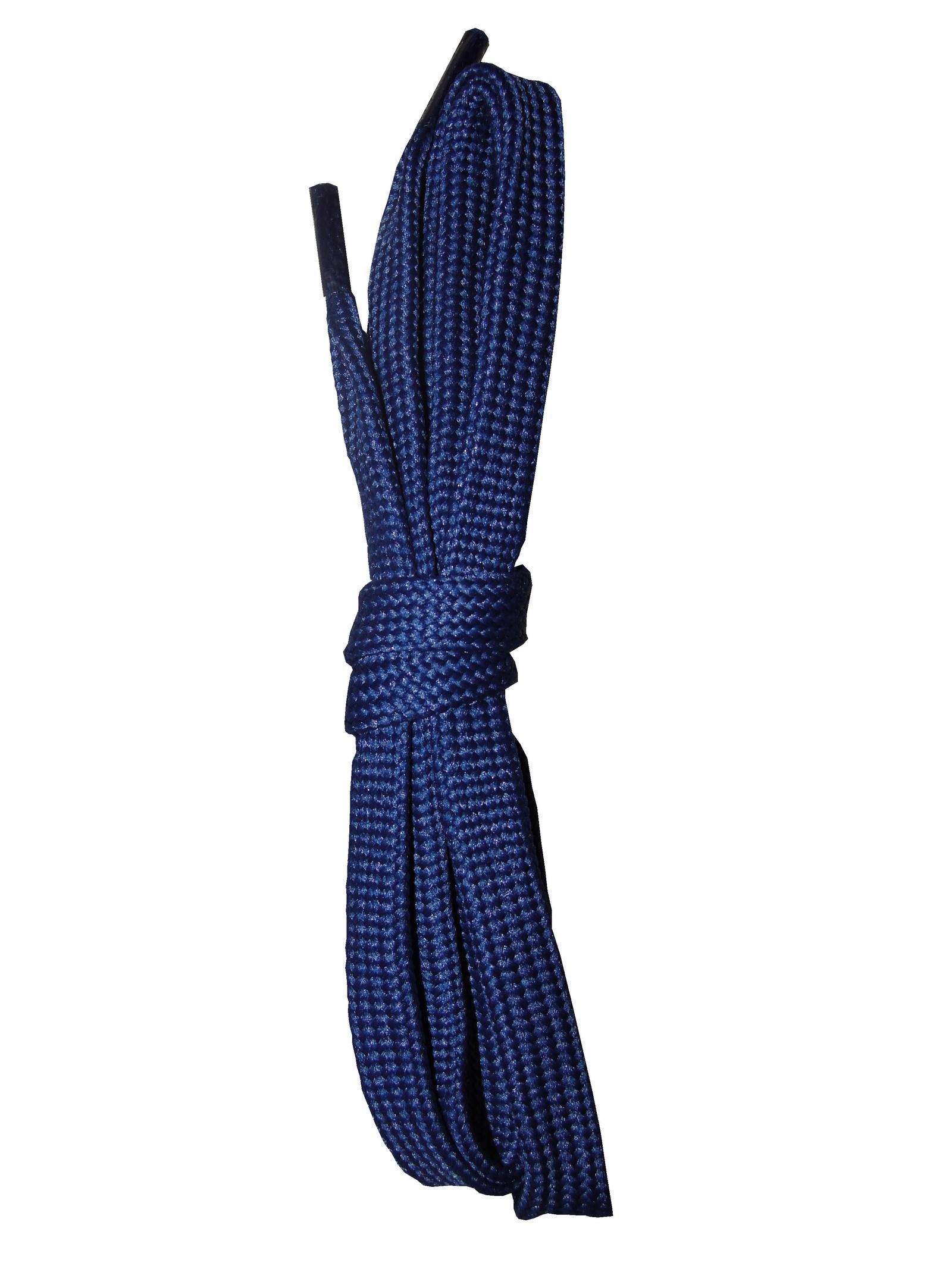 Шнурки ОРИОН 75см плоские синие