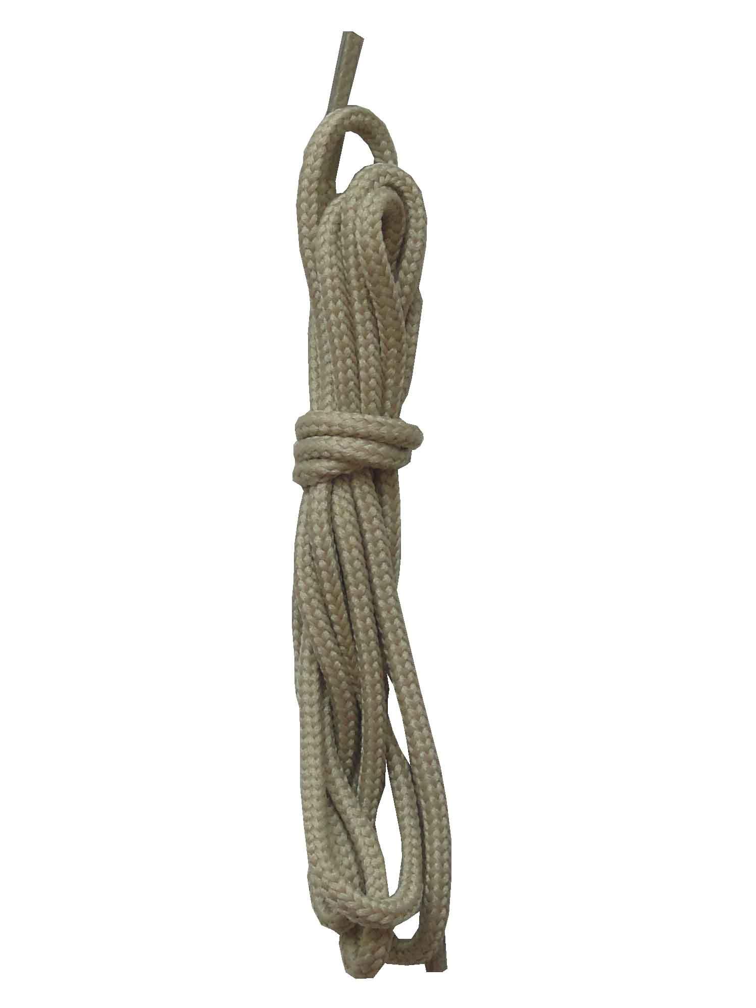 Шнурки ОРИОН 90см тонкие круглые бежевые