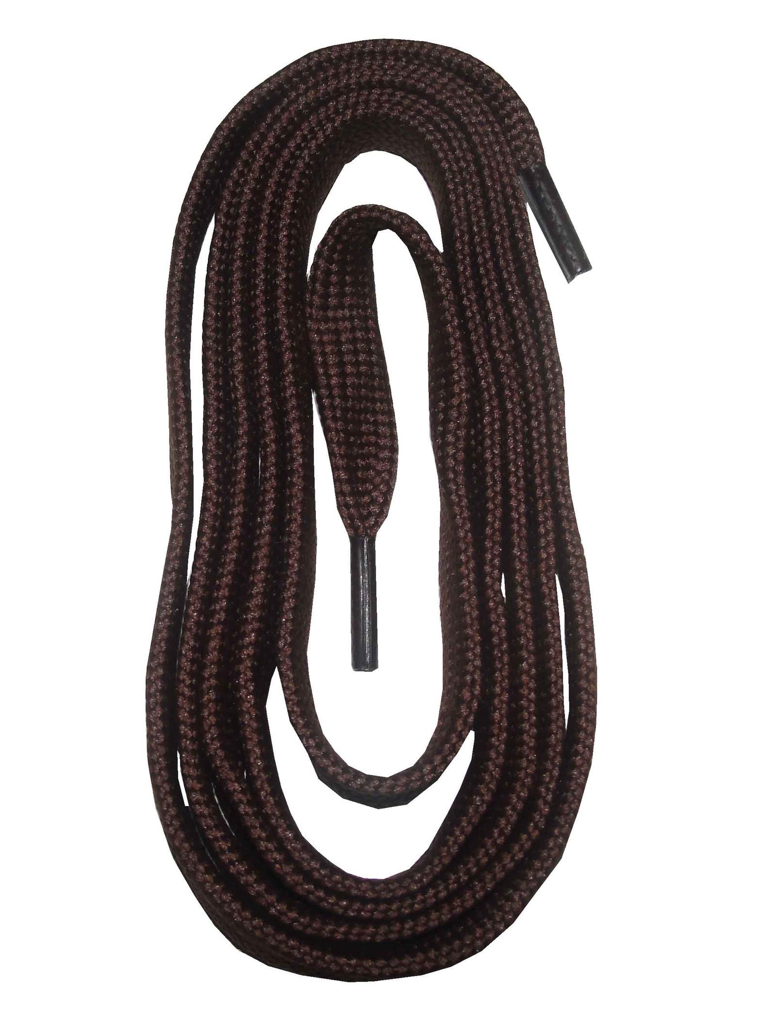 Шнурки ОРИОН 150см плоские коричневые