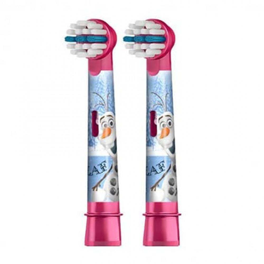Насадка для электрической зубной щетки Oral-B Braun EB10K Frozen Kids (2 шт) сменные насадки для зубной щетки kids stages power oral b 2 шт