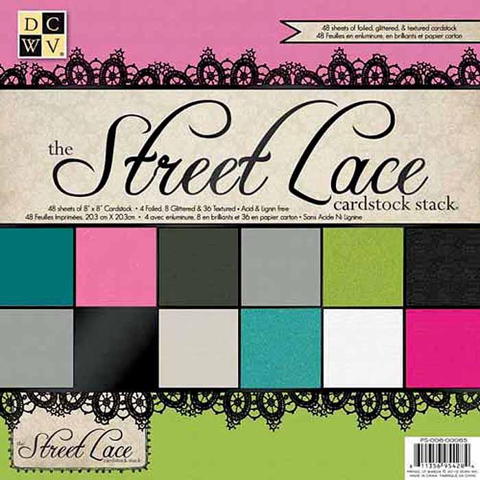 Набор бумаги для скрапбукинга Street Lace Solid  (20х20 см.) цена