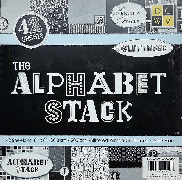 Набор бумаги для скрапбукинга Alphabet (20х20 см.) цена