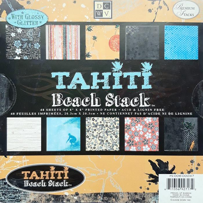 Набор бумаги для скрапбукинга Tahiti Beach  (20х20 см.) цена