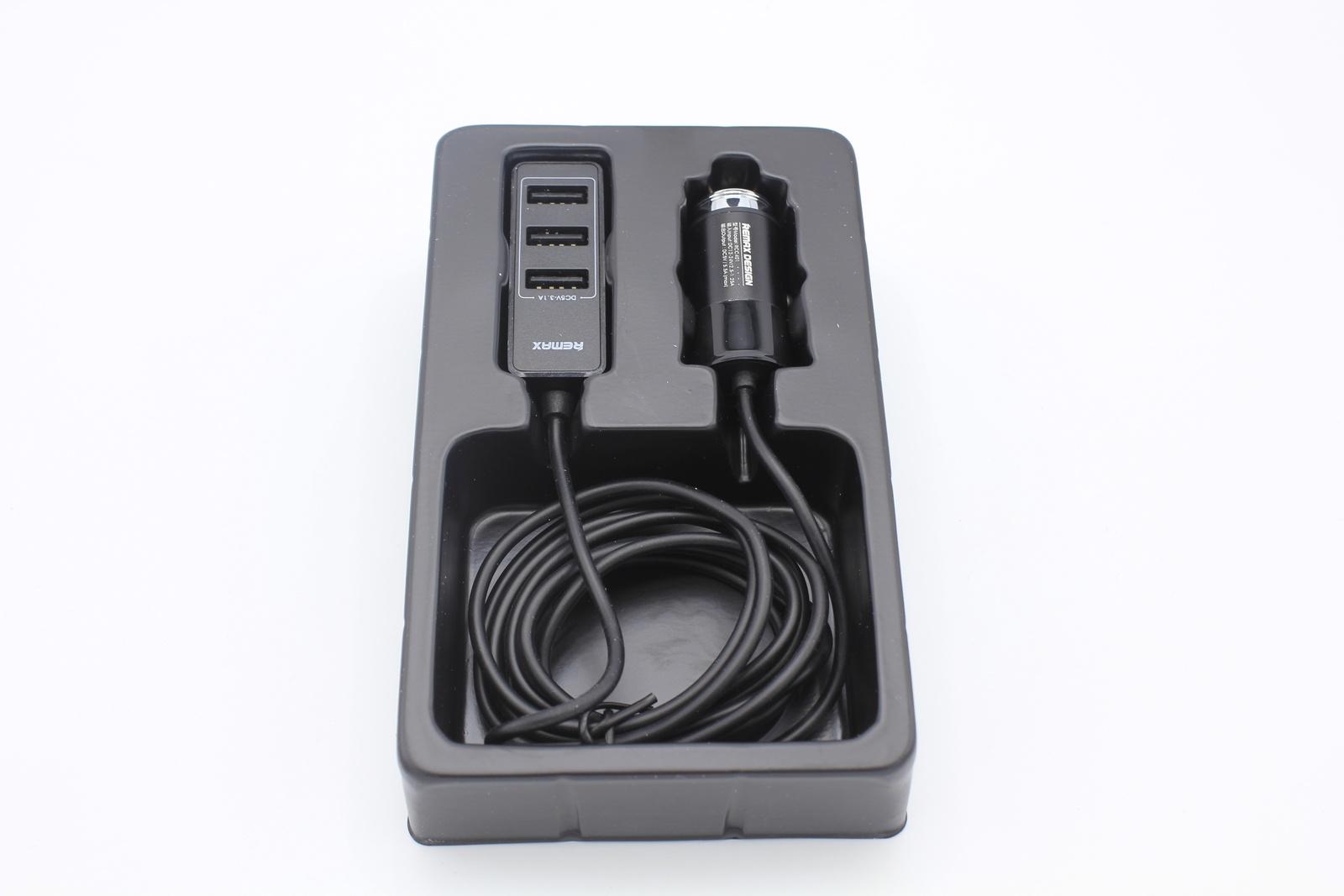 Автомобильное зарядное устройство Remax RCC401 4USB HUB черный зарядное устройство remax rcc304 aliens 3xusb 5v 4 2a black 71786