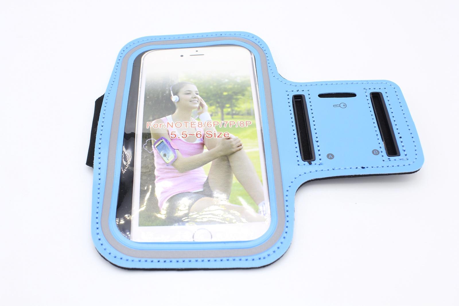 Чехол для Смартфона крепление на руку липучка, голубой водонепроницаемый чехол для смартфона на велосипеде