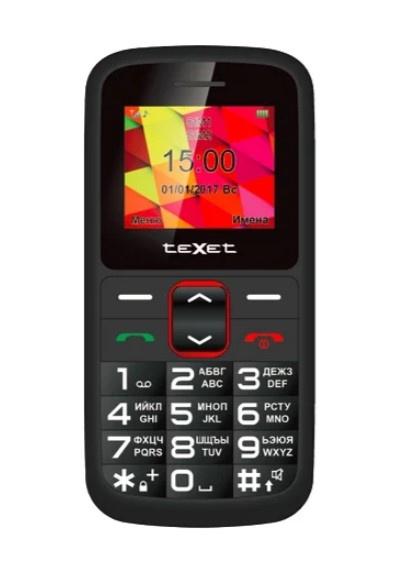 Мобильный телефон TeXet ТМ-B217 Black- Red