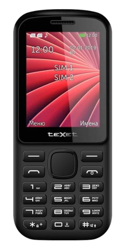 Мобильный телефон TeXet ТМ-218 Black- Red сотовый телефон texet тм 127 black red