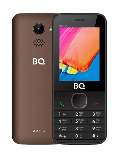 Мобильный телефон BQM-2438 ART L+ Brown мобильный телефон bq 2807 wonder brown
