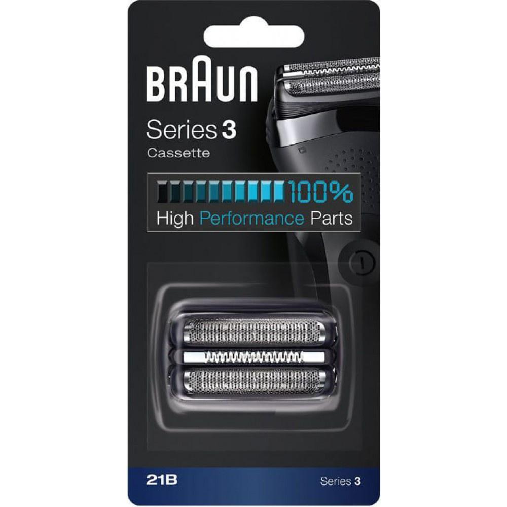 Сетка и режущий блок Braun Series 3 21B аксессуар чистящая кассета braun ccr 2