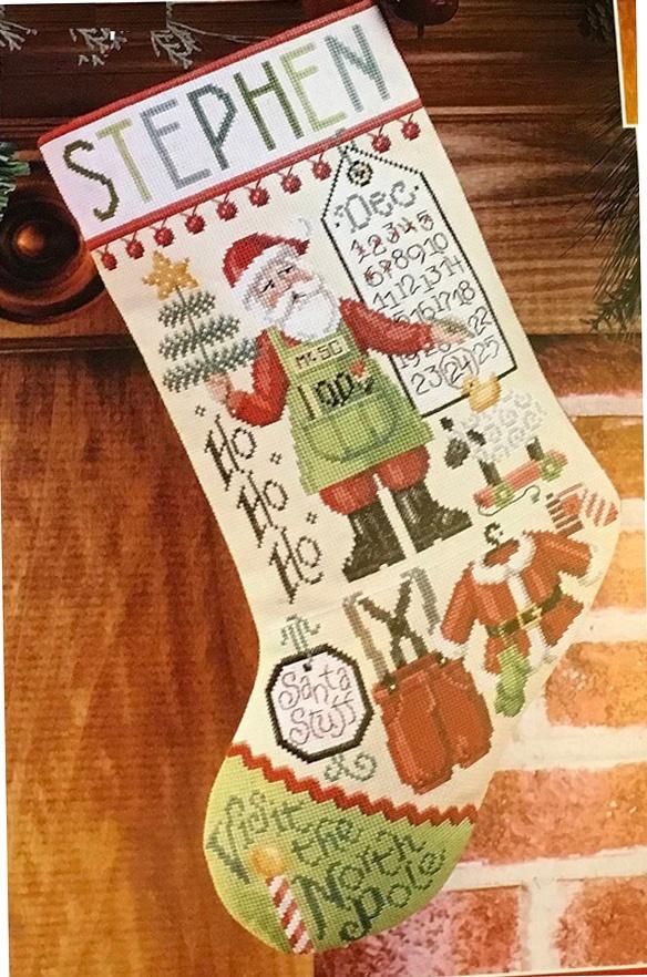 "Набор для вышивания Janlynn ""Santa stuff stocking"""
