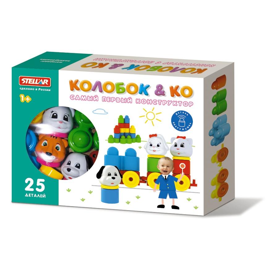 Конструктор для малышей Колобок и компания 25 деталей