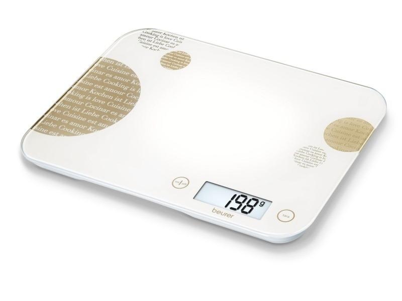 Весы кухонные электронные Beurer KS48, белый, бежевый