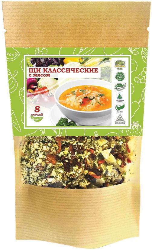 Щи классические с мясом, Organic Food, 100гр