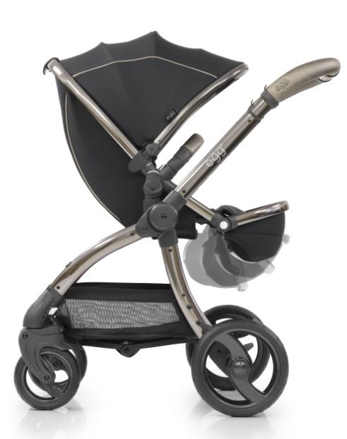 Egg Коляска прогулочная Shadow Black & Gun Metal Mirror Chassis прогулочный блок для второго ребенка egg tandem seat petrol blue