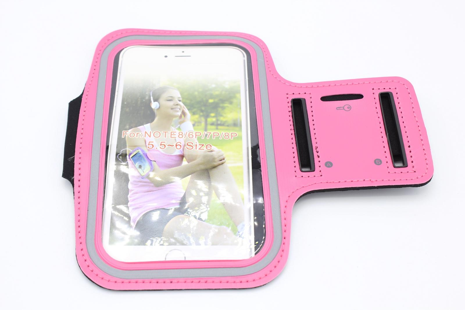 Чехол для Смартфона крепление на руку липучка, розовый водонепроницаемый чехол для смартфона на велосипеде