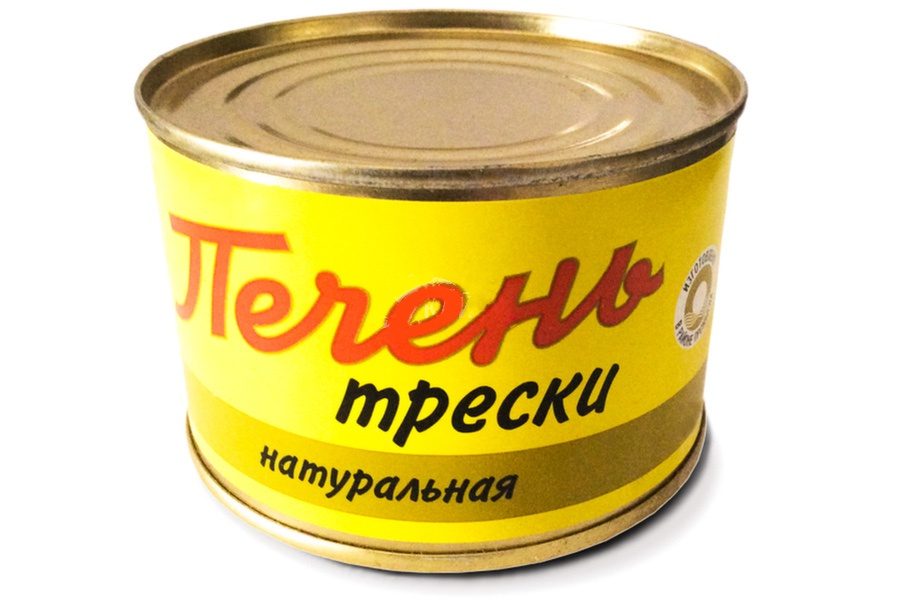 ПЕЧЕНЬ ТРЕСКИ НАТУРАЛЬНАЯ ТИХООКЕАНСКАЯ (220 Г.) печень трески по мурмански goldfish 190г