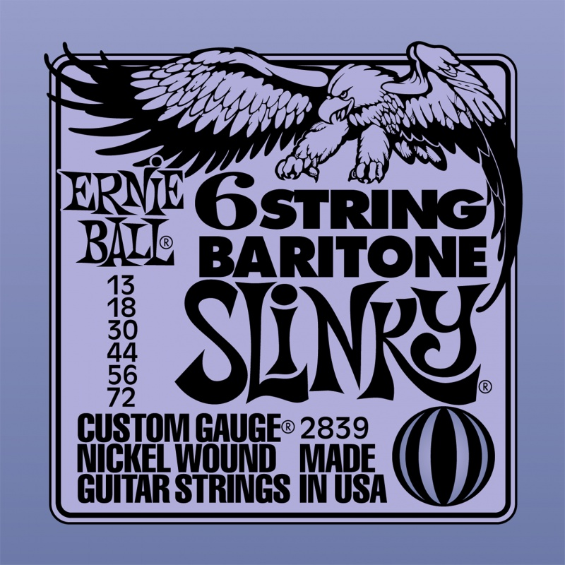 купить Струны для электро-гитары баритон Ernie Ball 2838 по цене 670 рублей