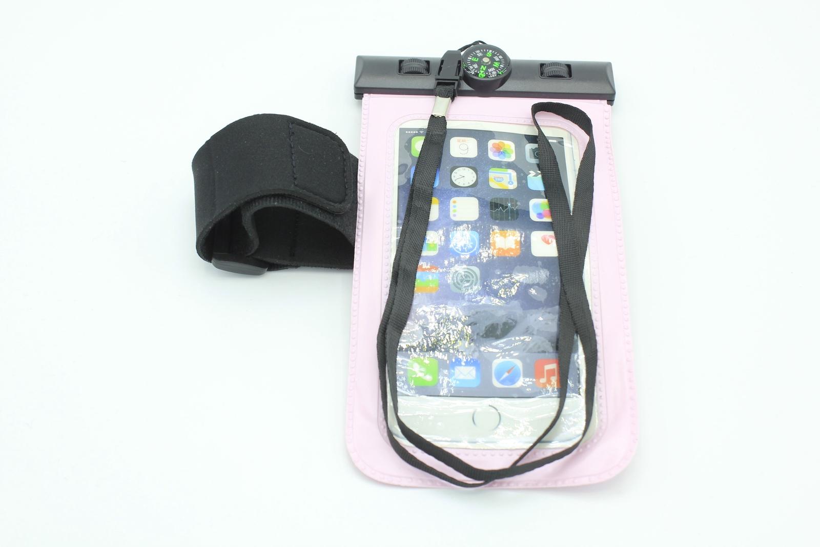цена на Водонепроницаемый чехол для телефона универсальный с компасом, розовый