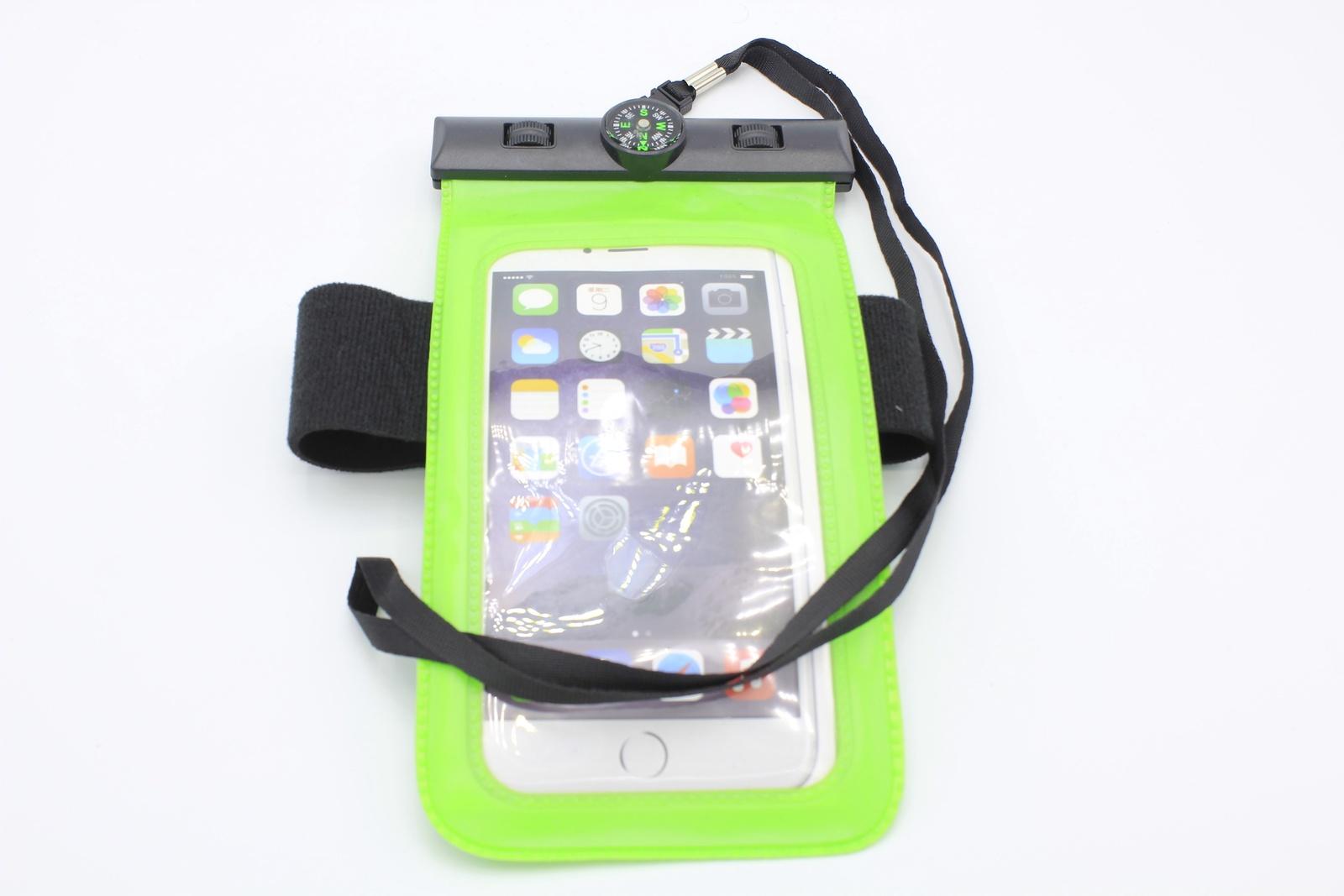 Водонепроницаемый чехол для телефона универсальный с компасом , зеленый водонепроницаемый чехол для телефона спб