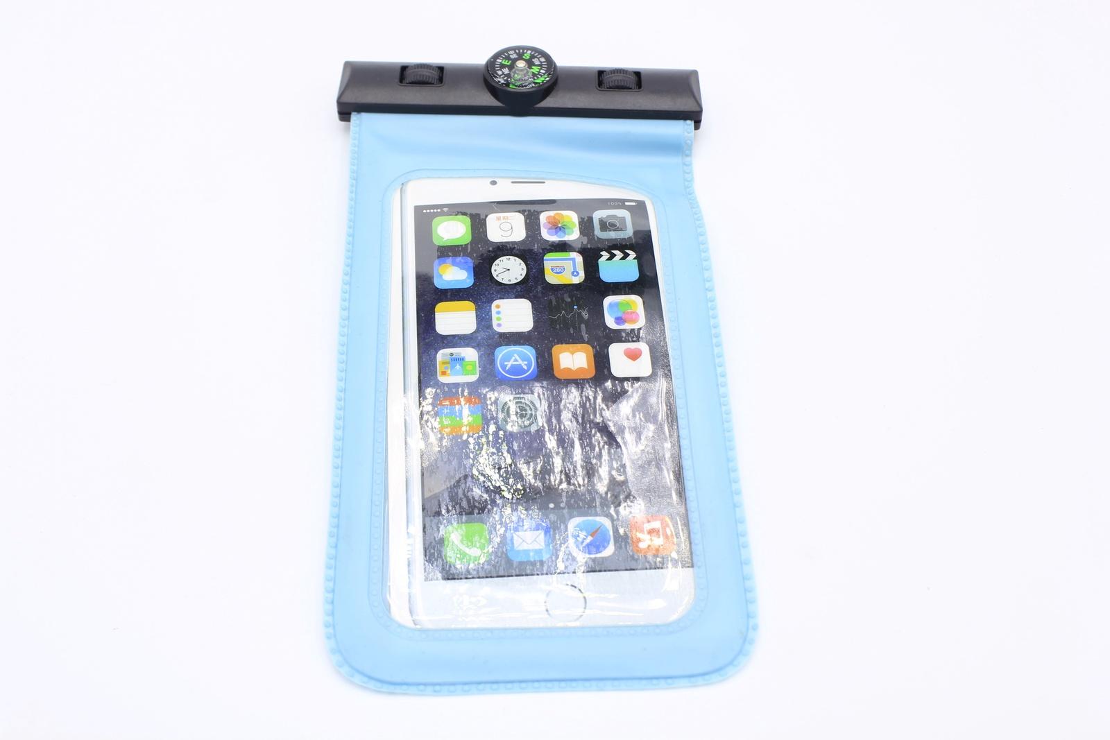 Водонепроницаемый чехол для телефона универсальный с компасом, голубой водонепроницаемый чехол для телефона спб