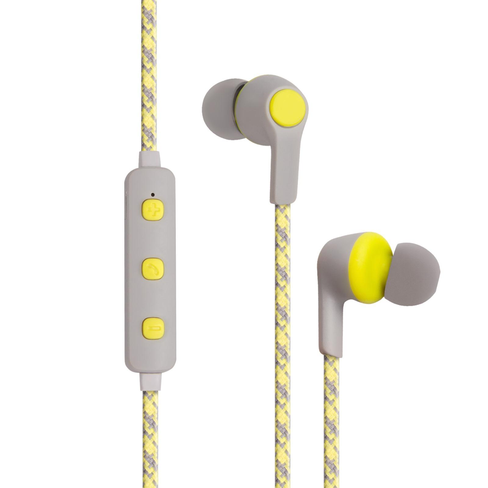 Наушники Kubic E1, Bluetooth, желтый, серый yookie k318 bluetooth yellow