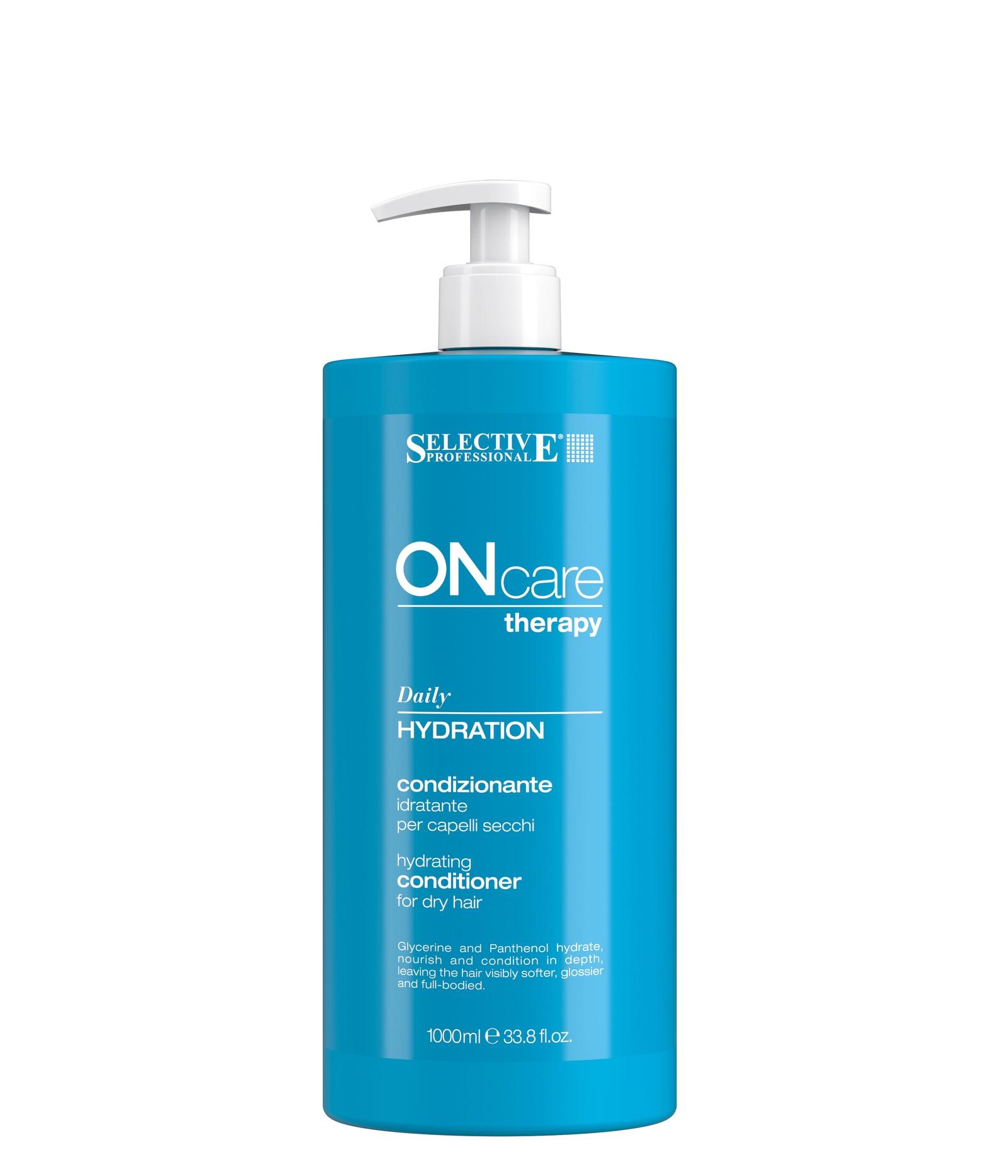 Увлажняющий кондиционер для сухих волос Selective Professional Hydration conditioner, 1000 мл selective professional hydration shampoo шампунь увлажняющий для сухих волос 1000 мл
