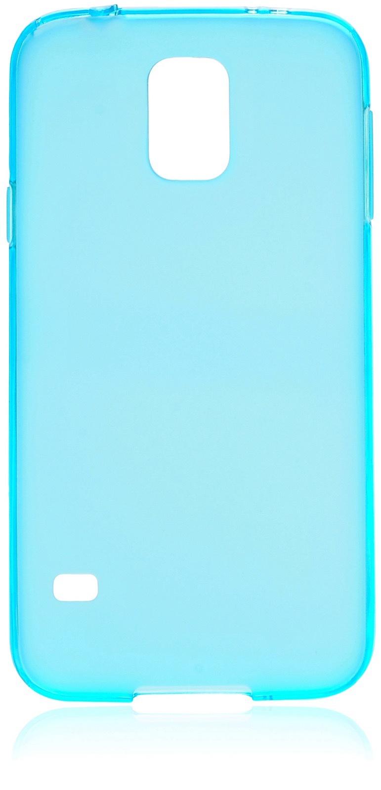 Чехол накладка iNeez силикон матовый 530041 для Samsung Galaxy S5,530041,голубой