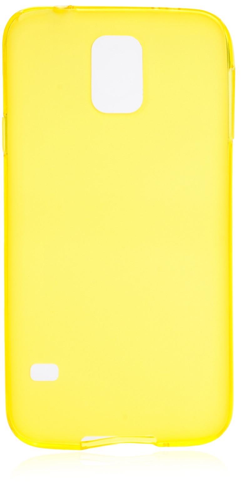 Чехол накладка iNeez силикон матовый 530042 для Samsung Galaxy S5,530042,желтый
