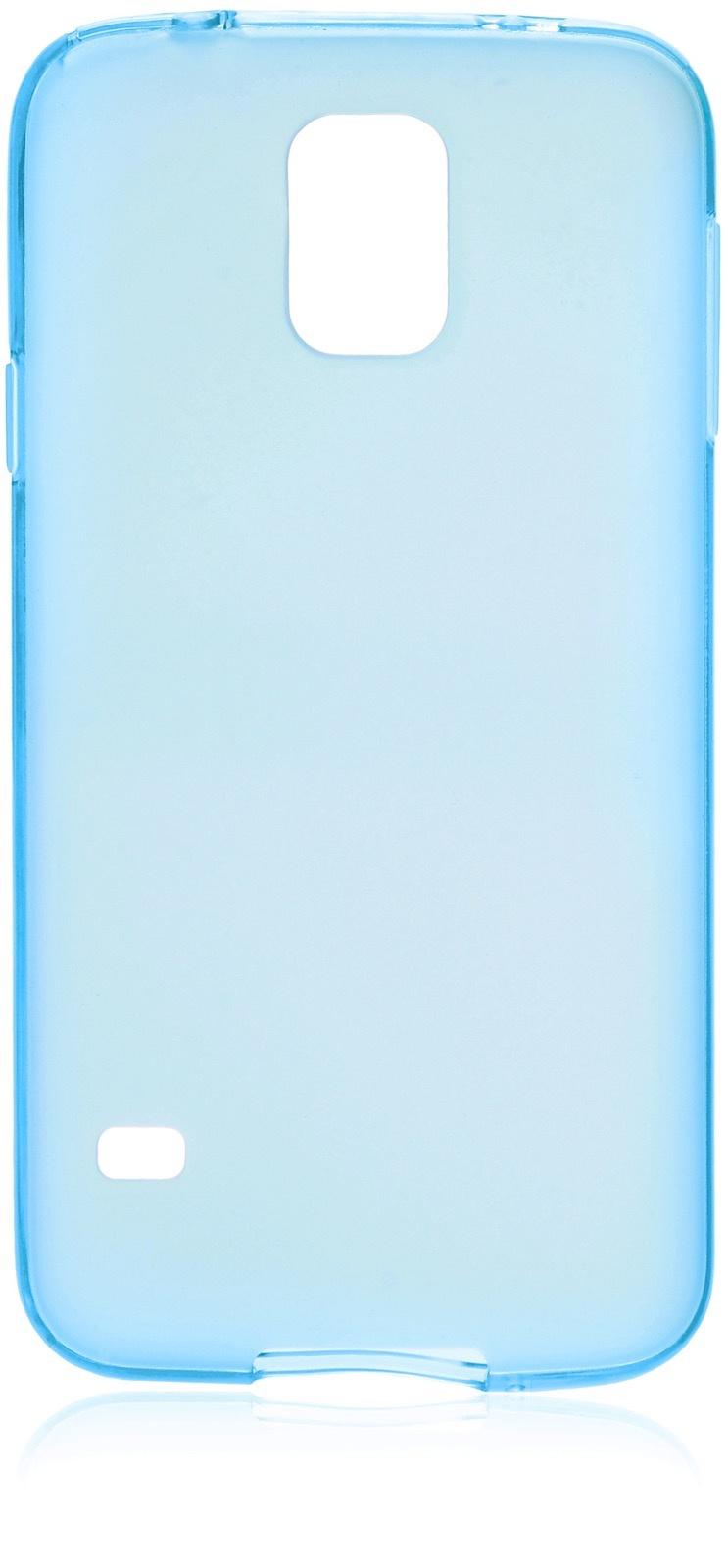 Чехол накладка iNeez силикон матовый 530043 для Samsung Galaxy S5,530043,синий
