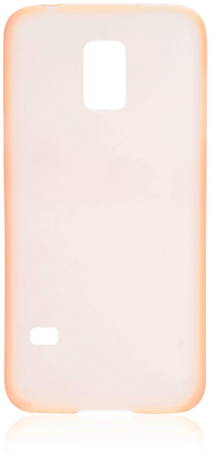 Чехол накладка iNeez пластик 0.3 мм 570002 для Samsung Galaxy S5 mini,570002, оранжевый