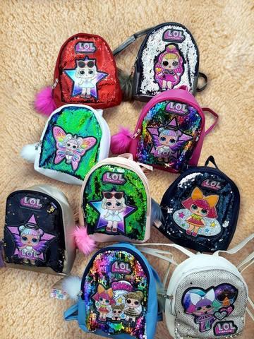 Рюкзак ЛОЛ с пайетками (золотистый), LOL Surprise Dolls funny kawaii lol open eggs dolls ball children surprise doll anime action figure kids toy fun egg