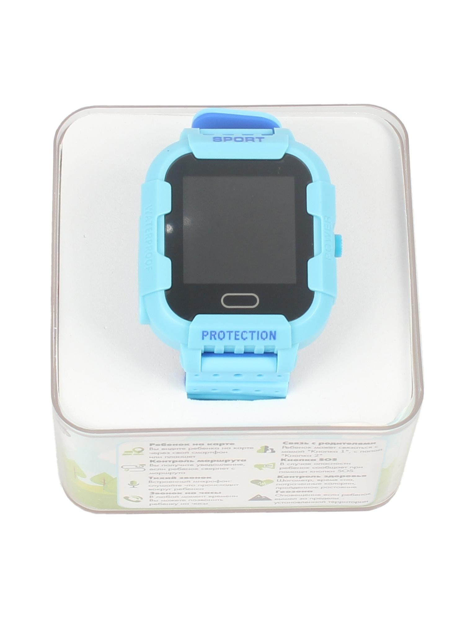 Детские умные часы-телефон КТ03 IP67 TipTop Голубые, синие телефон доверия бесплатно круглосуточно