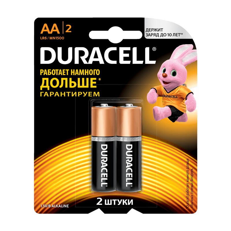 Дюраселл (Duracell) батарейка 2-х шт AA (пальч.) mn1500 цена и фото