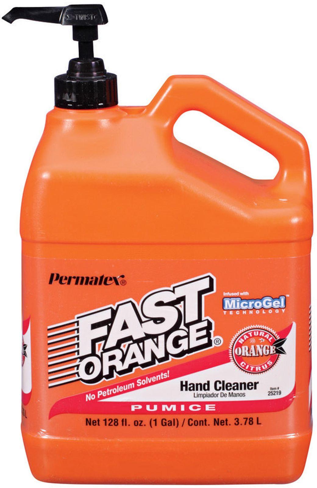 Средство для очистки рук Permatex Фаст Оранж, с пемзой, 3,78 л