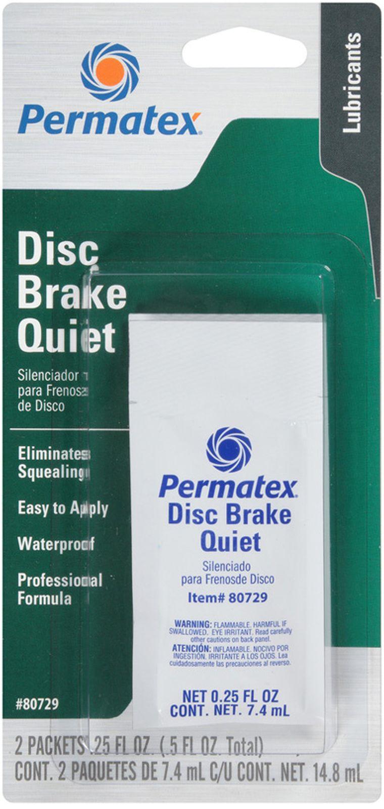 Смазка Permatex, для предотвращения шума дисковых тормозов, 2 шт х 7,4