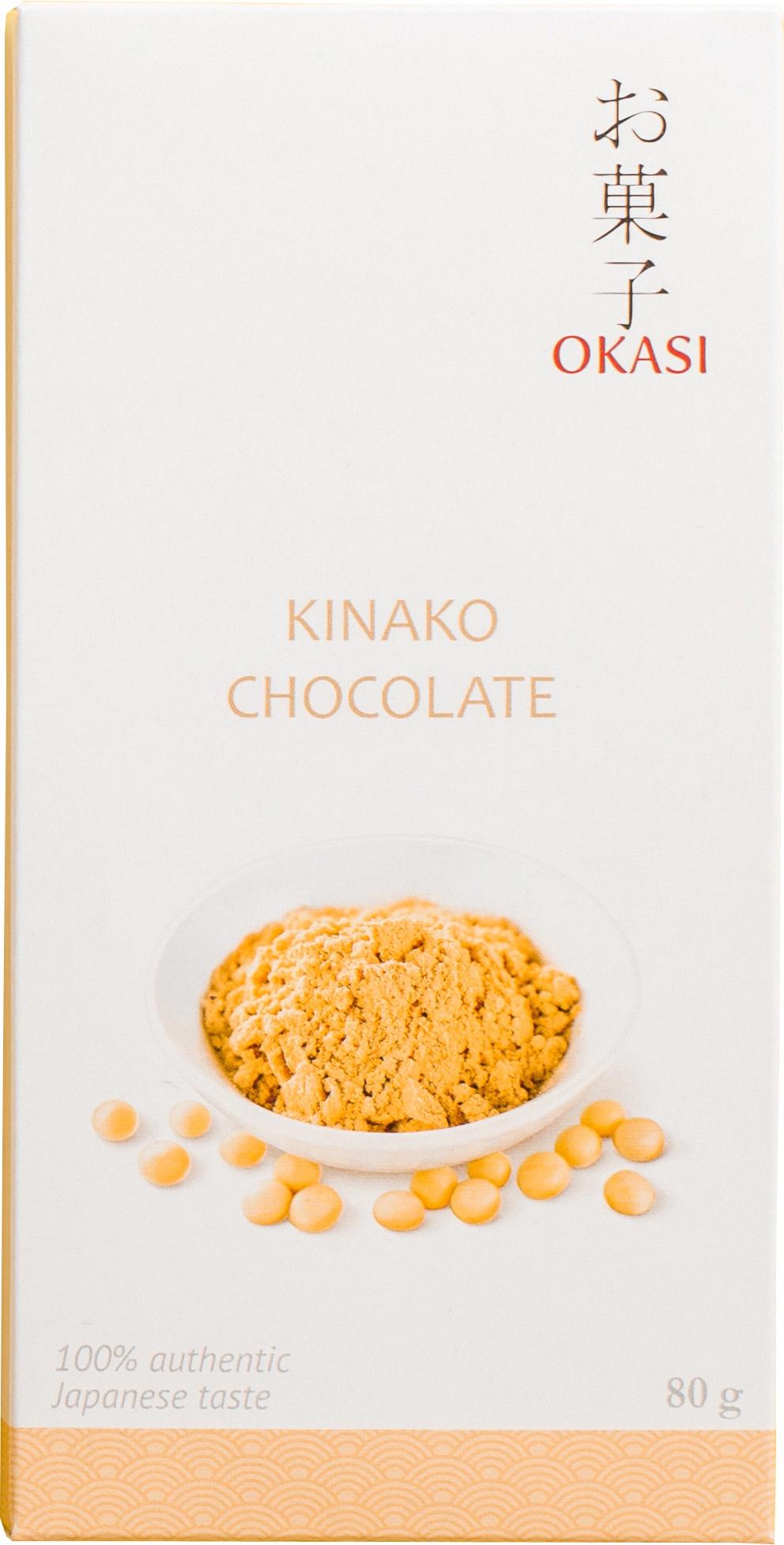 Шоколад Okasi с кинако, плитка, 80 г шоколад okasi с чаем матча плитка 80 г