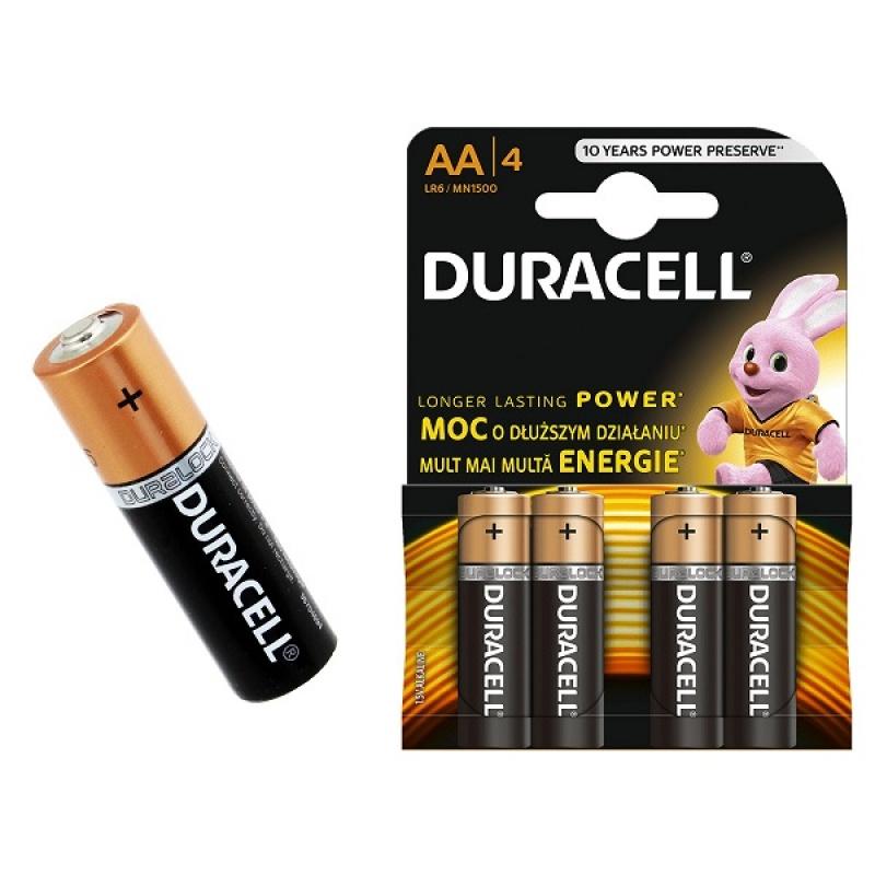 Дюраселл (Duracell) батарейка 4-х шт AA (пальч.) mn1500 цена и фото