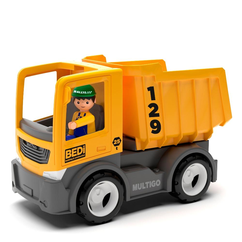 Строительный грузовик-самосвал с водителем