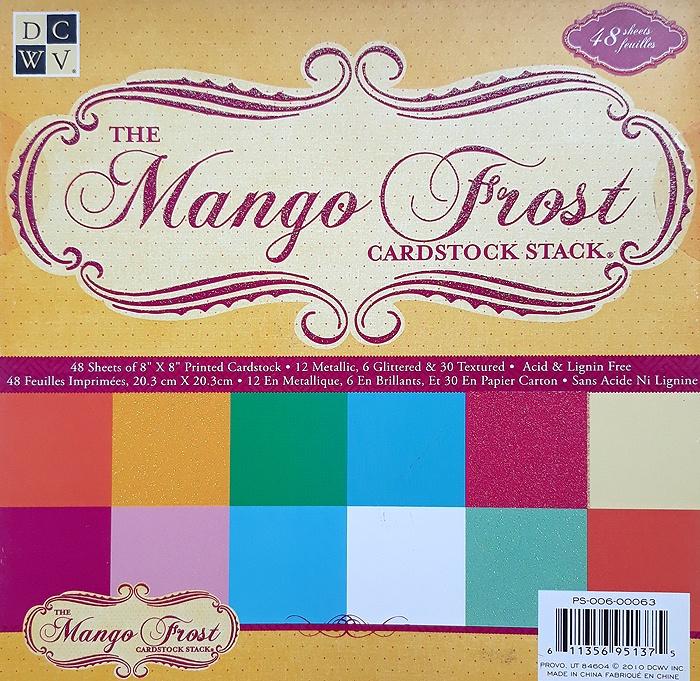 Набор цветного картона для скрапбукинга 20х20 см. 48 листов. Mango цена