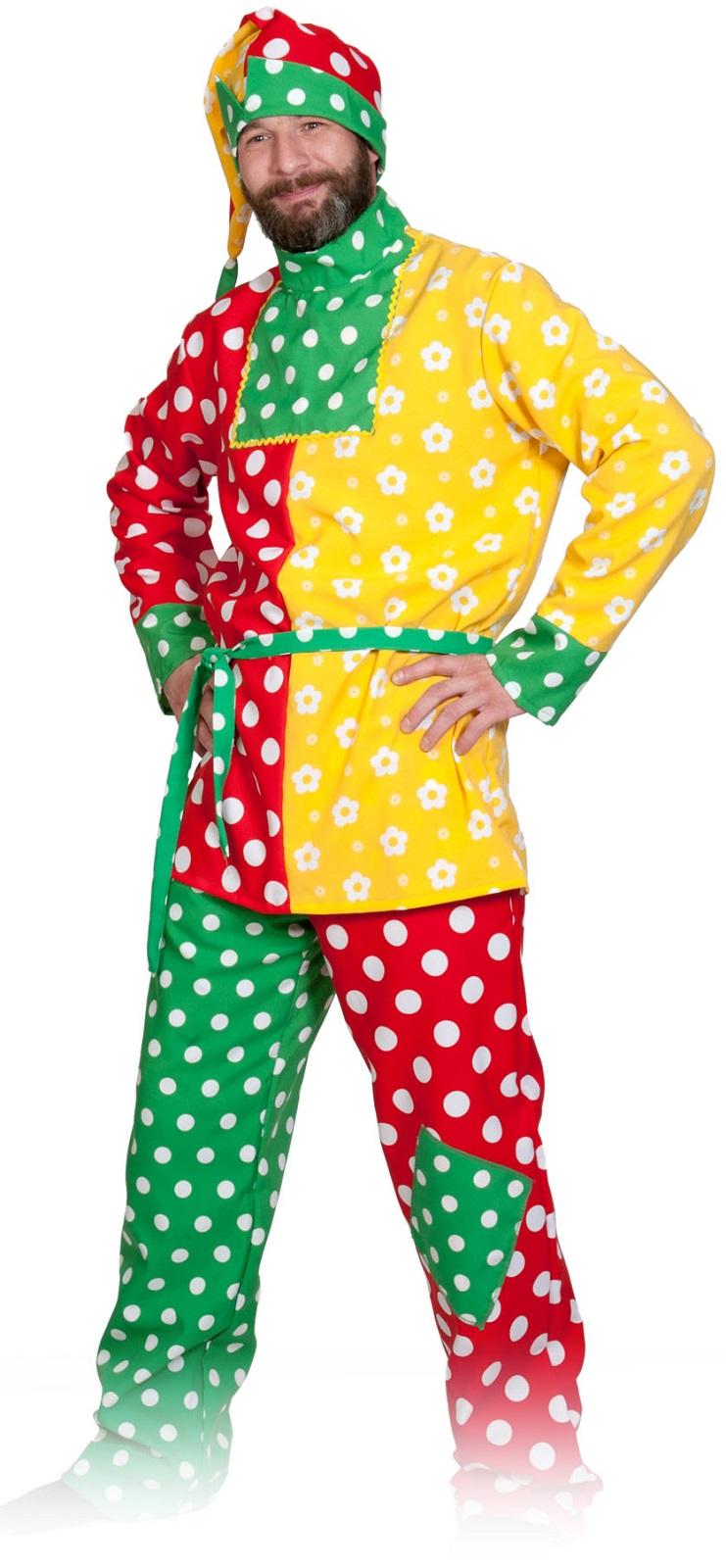 Карнавалофф Карнавальный костюм Петрушка ВЗРОСЛЫЙ недорго, оригинальная цена