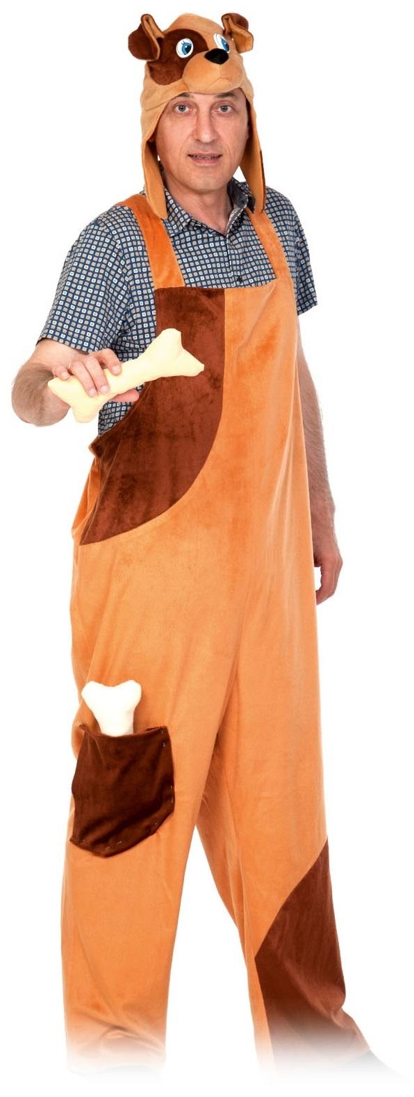 Карнавалофф Карнавальный костюм плюш Пёсик ВЗРОСЛЫЙ недорго, оригинальная цена