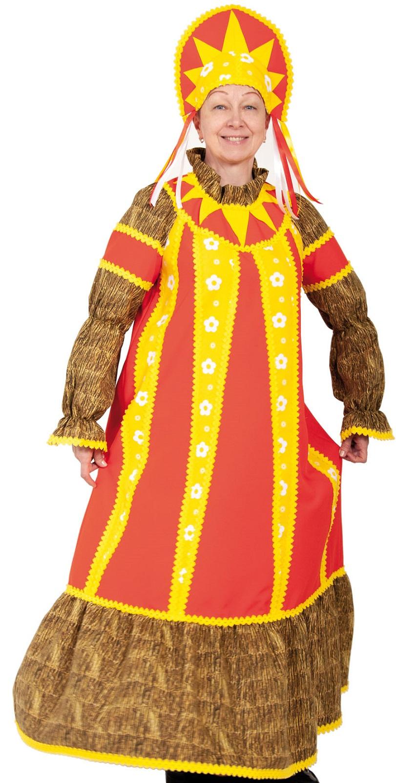 Карнавалофф Карнавальный костюм Масленица ВЗРОСЛЫЙ недорго, оригинальная цена