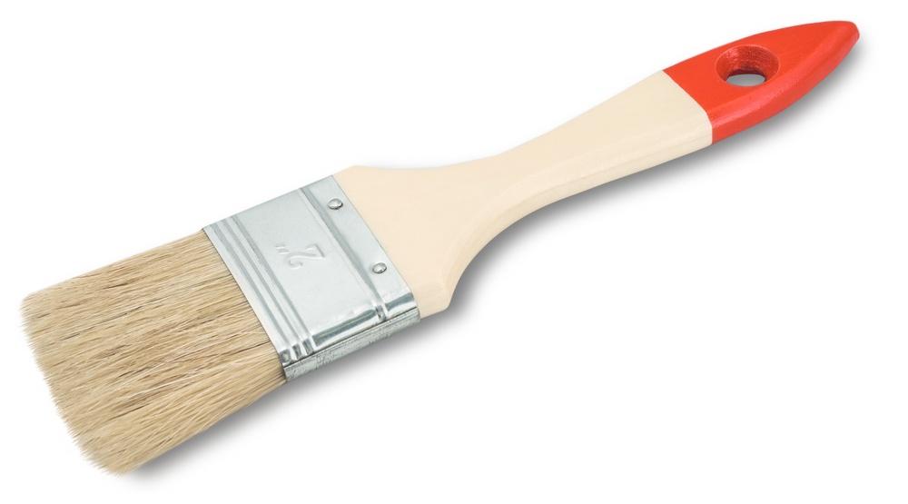 Кисть малярная плоская Standard, натуральная щетина, 100 мм, VIRTUS