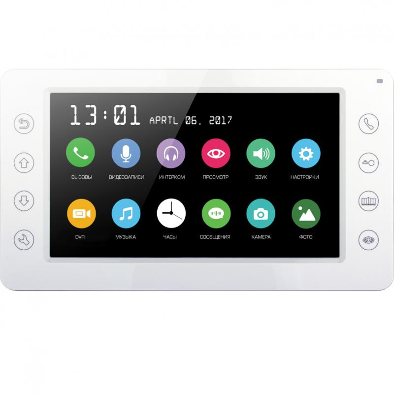 Цветной монитор видеодомофона без трубки (hands-free) САТРО-DM-701DVR-W