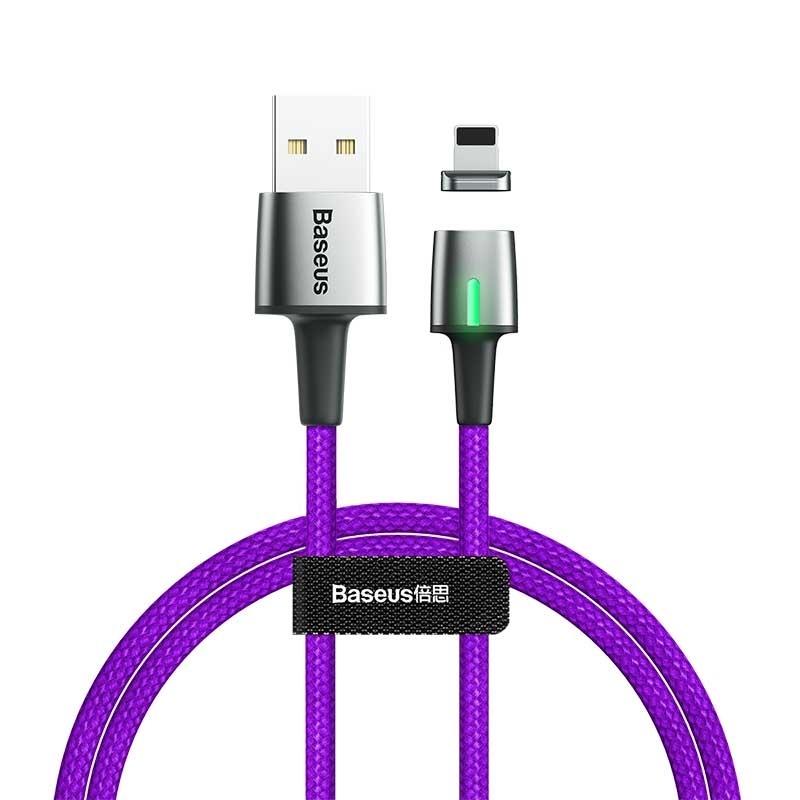 Кабель магнитный Baseus Zinc Magnetic Cable USB For iP 1.5A 2m Purple