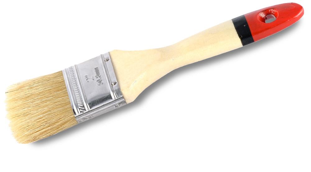 Кисть малярная плоская Master, натуральная щетина, 63 мм, VIRTUS