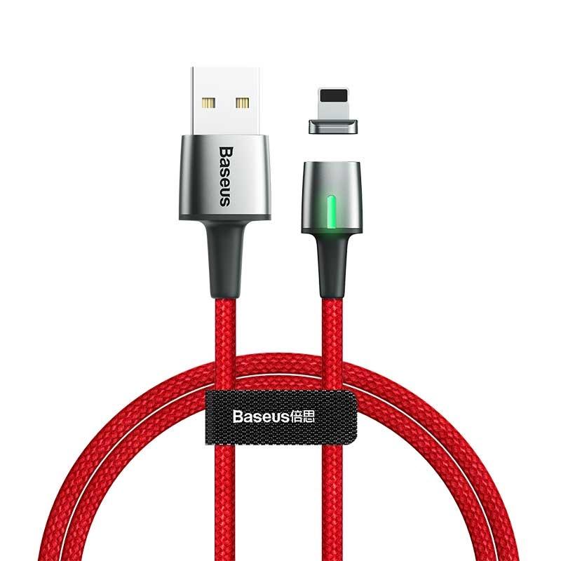 Кабель магнитный Baseus Zinc Magnetic Cable USB For iP 1.5A 2m Red