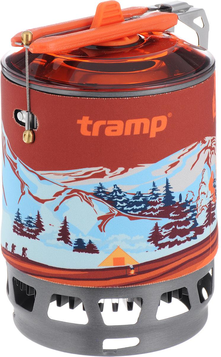 Система для приготовления пищи Tramp, цвет: оранжевый, 800 мл. TRG-049 газовый баллон tramp trg 002