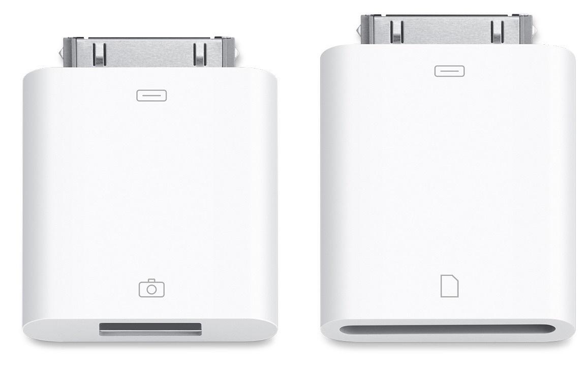 Адаптер iNeez Camera Connection Kit For Apple iPad (30-pin) 2 в 1 в бумажном блистере,110050,белый программа видеозаписи с веб камеры