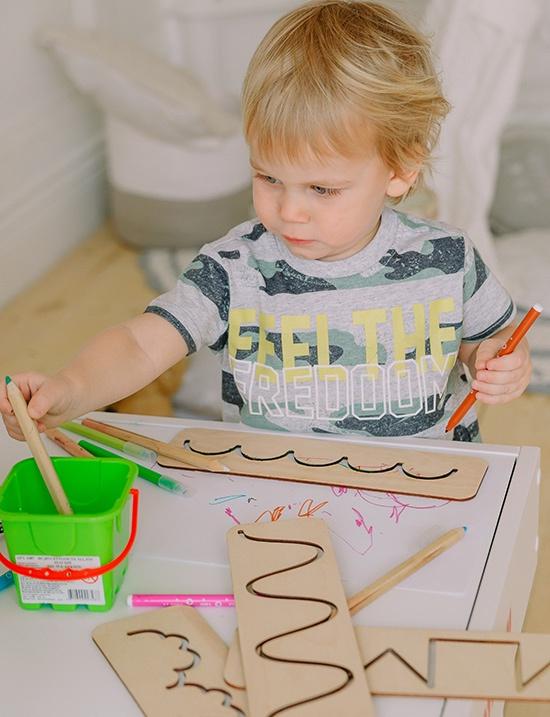 Детский стол MYPLAYROOM Световая песочница с длинной крышкой